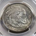 1924 HUGUENOT COMMEMORATIVE HALF PCGS MS 64