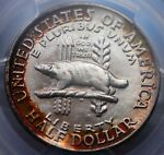 1936 WISCONSIN COMMEM PCGS MS 66 ABSOLUTELY GORGEOUS TAB TONED SUPERB GEM