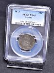 1873 LIBERTY SEATED QUARTER WITH ARROWS   PCGS XF45  18368