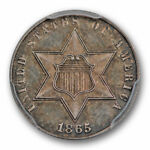 1865 3CS THREE CENT SILVER PCGS PR 64 CAC APPROVED PROOF KEY DATE POP 1