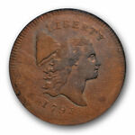 1795 NO POLE FLOWING HAIR HALF CENT NGC AU 55 BN C 6 A OVERSTRUCK COIN HIGH END