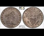 1806 POINTED 6 NO STEMS HALF DOLLAR PCGS SECURE VF30