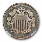 1877 5C SHIELD NICKEL PROOF NGC PF 66 CAMEO KEY DATE LOW MINTAGE COIN LUSTROUS