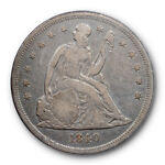 1840 $1 SEATED LIBERTY DOLLAR PCGS F 15 FINE TO FINE FIRST YEAR TYPE
