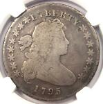 1795 DRAPED BUST SILVER DOLLAR $1 COIN SMALL EAGLE   CERTIFIED NGC VG DETAILS