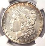 1886 S MORGAN SILVER DOLLAR $1   CERTIFIED NGC AU55    DATE   NICE LUSTER