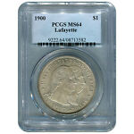 CERTIFIED COMMEMORATIVE DOLLAR 1900 LAFAYETTE MS64 PCGS TONED