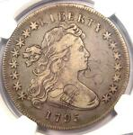 1795 DRAPED BUST SILVER DOLLAR $1 COIN SMALL EAGLE BB 51 B 14 NGC VF DETAILS
