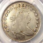 1807 DRAPED BUST HALF DOLLAR 50C   PCGS VF DETAILS    CERTIFIED COIN