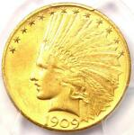 1909 D INDIAN GOLD EAGLE $10 COIN   CERTIFIED PCGS MS61 BU UNC    COIN