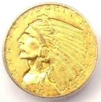 1911 D INDIAN GOLD QUARTER EAGLE $2.50 STRONG   CERTIFIED ICG MS62 BU UNC