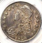 1828 CAPPED BUST HALF DOLLAR 50C   PCGS AU53   SQ BASE 2 SMALL 8 LARGE LETTERS