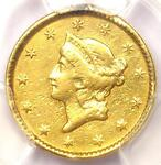 1851 LIBERTY GOLD DOLLAR COIN G$1   CERTIFIED PCGS XF DETAILS EF    COIN