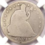 1873 CC ARROWS SEATED LIBERTY HALF DOLLAR 50C   CERTIFIED NGC GOOD DETAILS