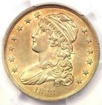 1838 CAPPED BUST QUARTER 25C   PCGS AU DETAILS    EARLY DATE COIN IN AU