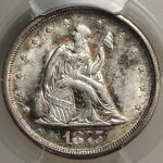 1875 S TWENTY CENT PIECE UNCIRCULATED SLABBED PCGS MS 61 CERTIFIED