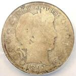 1896 S BARBER QUARTER 25C   NGC FAIR DETAILS    KEY DATE CERTIFIED COIN