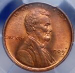 1909 VDB LINCOLN CENT PCGS MS 64 RED BROWN NEARLY FULL RED REVERSE