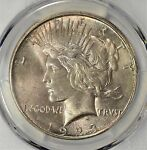 1923 D PEACE DOLLAR PCGS MS 65 GORGEOUS COLOR  AMC