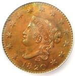 1820 MATRON CORONET LARGE CENT 1C COIN N 13   ICG MS63  BU UNC    $840 VALUE