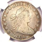 1806 DRAPED BUST HALF DOLLAR 50C   NGC VF DETAILS    CERTIFIED COIN