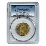 CERTIFIED $5 GOLD LIBERTY 1807 XF DETAILS  REPAIRED  PCGS