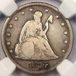 1875 CC TWENTY CENT PIECE 20C   NGC FINE DETAILS    CARSON CITY COIN