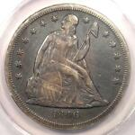1846 O SEATED LIBERTY SILVER DOLLAR $1   ANACS XF40 DETAILS  EF40     COIN