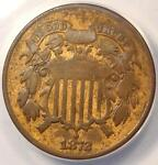 1872 TWO CENT PIECE 2C   ANACS F12 DETAILS  FINE     KEY DATE CERTIFIED COIN