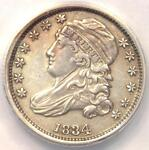 1834 CAPPED BUST DIME 10C    ANACS AU50 DETAILS    EARLY CERTIFIED COIN