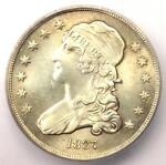 1837 CAPPED BUST QUARTER 25C   CERTIFIED ICG AU55 DETAIL    EARLY DATE COIN