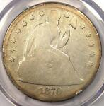 1870 CC SEATED LIBERTY DOLLAR $1   PCGS GOOD DETAILS    CARSON CITY COIN