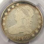 1818 CAPPED BUST QUARTER 25C   PCGS VG10    EARLY DATE BUST COIN