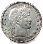 1892 BARBER HALF DOLLAR 50C   PCGS UNCIRCULATED    FIRST YEAR BU MS UNC COIN