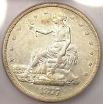 1877 S TRADE SILVER DOLLAR T$1   CERTIFIED ICG AU50    CERTIFIED COIN
