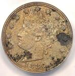 1886 LIBERTY NICKEL 5C   ANACS XF40 DETAILS    KEY DATE CERTIFIED COIN