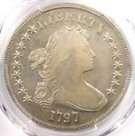 1797 DRAPED BUST SMALL EAGLE SILVER DOLLAR $1   PCGS VF DETAILS    COIN