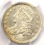 1837 CAPPED BUST DIME 10C   PCGS AU DETAIL    EARLY DATE CERTIFIED COIN