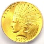 1913 INDIAN GOLD EAGLE  $10 COIN    ICG MS64  PQ PLUS GRADE   $2 630 VALUE