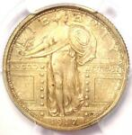 1917 T1 STANDING LIBERTY QUARTER 25C COIN   PCGS UNCIRCULATED DETAILS  UNC MS