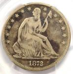 1872 CC SEATED LIBERTY HALF DOLLAR 50C COIN   CERTIFIED PCGS VG8  VERY GOOD