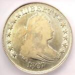 1807 DRAPED BUST HALF DOLLAR 50C COIN   CERTIFIED ICG F12    COIN