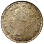 1886 LIBERTY NICKEL 5C   ANACS XF DETAILS NET VF20    DATE CERTIFIED COIN