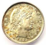 1893 BARBER QUARTER 25C COIN   CERTIFIED ICG MS66  GEM BU UNC    $2 640 VALUE