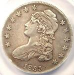 1835 CAPPED BUST HALF DOLLAR 50C O 105   ANACS AU50 DETAIL    CERTIFIED COIN