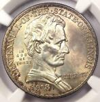 1918 LINCOLN ILLINOIS HALF DOLLAR 50C   NGC UNCIRCULATED DETAILS  UNC MS BU