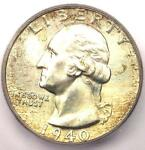 1940 WASHINGTON QUARTER 25C   CERTIFIED ICG MS67   $308 GUIDE VALUE IN MS67