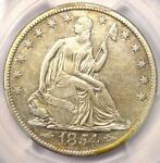 1854 O SEATED LIBERTY HALF DOLLAR 50C   CERTIFIED PCGS XF DETAILS    DATE