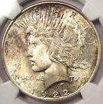 1922 D PEACE SILVER DOLLAR $1   NGC MS65  CAC PQ
