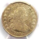 1805 DRAPED BUST DIME 10C   CERTIFIED PCGS FINE DETAILS    COIN